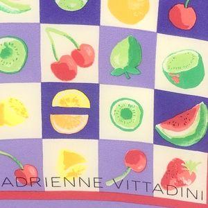 Adrienne Vittadini Accessories - Adrienne Vittadini Small Silk Scarf Fruit Purple